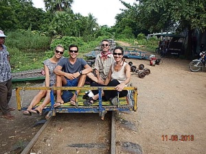 Bamboo Train , Battambang, Cambodia